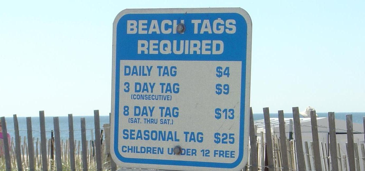 Beach Tag Sign
