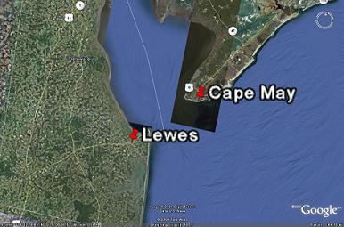 Cape May Lewes Map